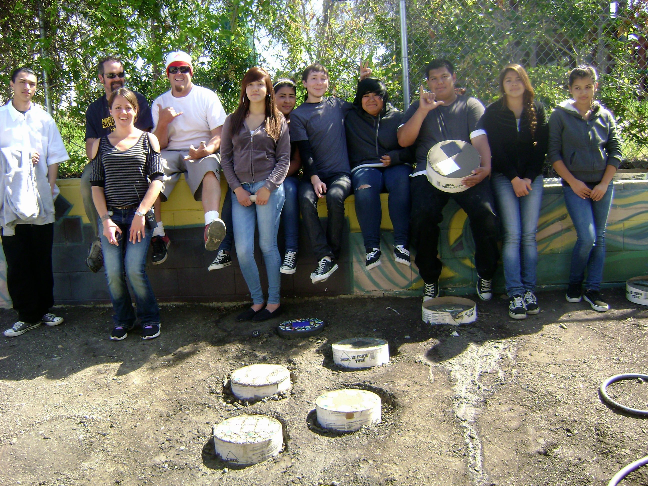 Donation of Concrete and Tiles to Make Stepping Stones!